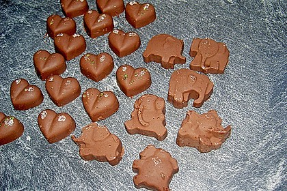 Zartbitterschokolade mit Limette und Salz