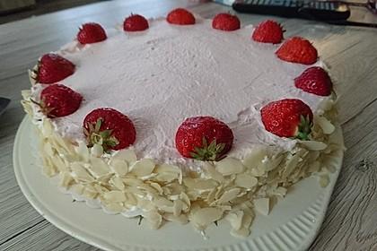 Erdbeer - Frischkäse - Torte 4