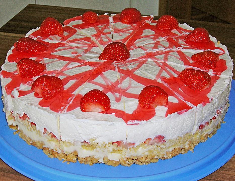 Erdbeer Frischkase Torte Von Angel00 Chefkoch De