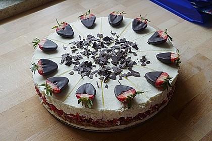 Erdbeer - Frischkäse - Torte