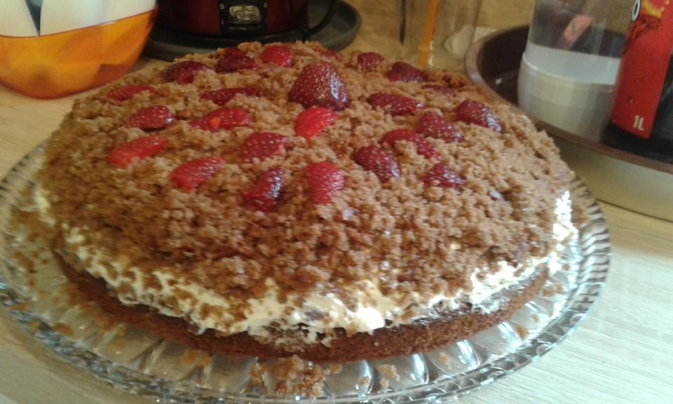 Maulwurf Torte Mit Erdbeeren Von Tanja K Chefkoch De