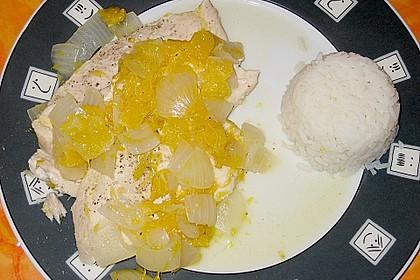 Zwiebel - Putenbraten mit Orangen aus dem Römertopf 2