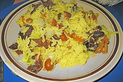 Reispfanne mit Pilzen 1