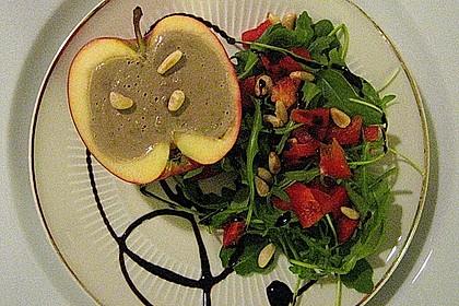 Geflügelleber – Parfait in Apfelhälften 3