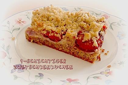 Zwetschgenkuchen 4 - schichtig 10