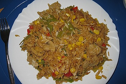 Reis - Pfanne mit buntem Gemüse 1