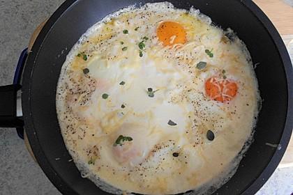 Eier in Sahne - gebacken (Bild)