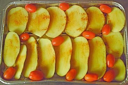 Grillkartoffel mit Mozarella und Tomate überbacken 1