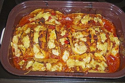 Überbackene Tacos