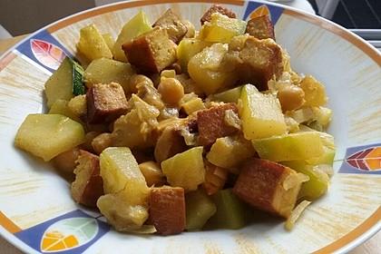 Bananencurry mit Kichererbsen 2