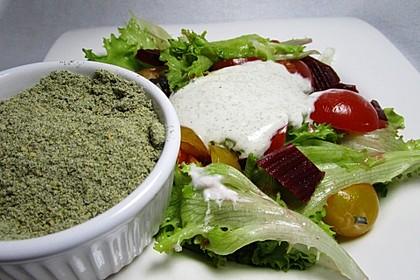 Salatdressingwürze auf Vorrat