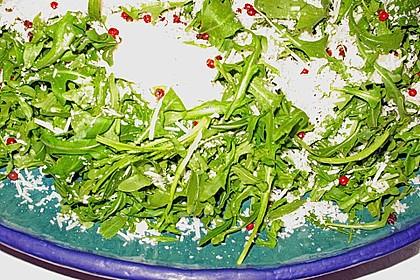 Rucola mit Parmesan 3