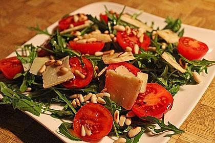Rucola mit Parmesan 2