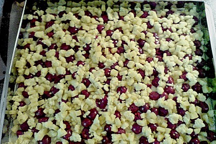 Jockels Kirsch - Marzipan - Streuselkuchen vom Blech 5