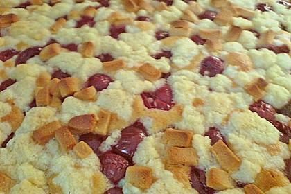 Jockels Kirsch - Marzipan - Streuselkuchen vom Blech 4