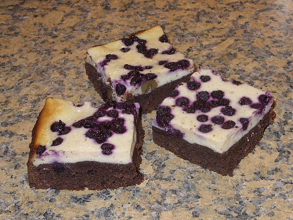 Blaubeer Kasekuchen Brownies Von Cooking Pilotegirl Chefkoch De