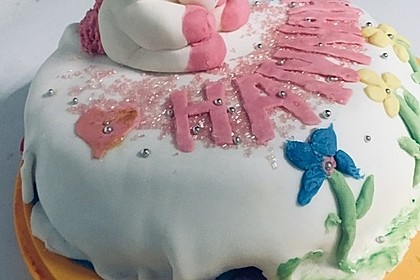 Festliche Torte mit Vanillecreme und Erdbeermousse 62
