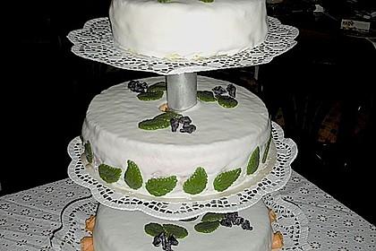 Festliche Torte mit Vanillecreme und Erdbeermousse 41