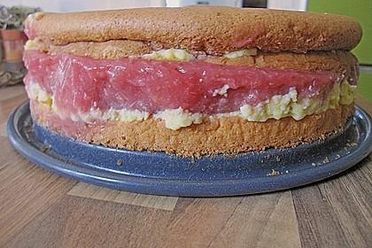 Festliche Torte mit Vanillecreme und Erdbeermousse 126