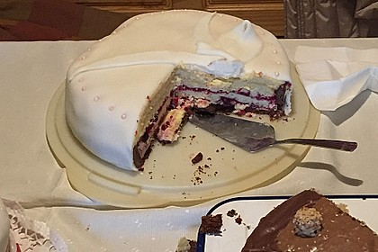 Festliche Torte mit Vanillecreme und Erdbeermousse 101