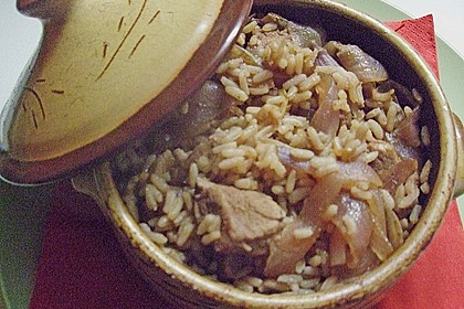 Reisfleisch im Tontopf