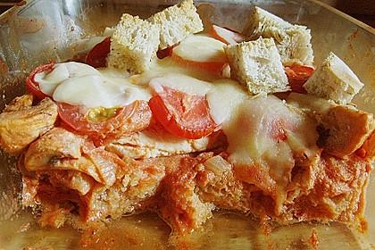 Brotauflauf Tomate - Mozzarella 1