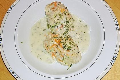 Gemüsenockerl mit Kräutersauce 8