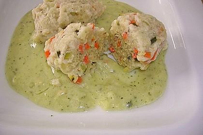 Gemüsenockerl mit Kräutersauce 6