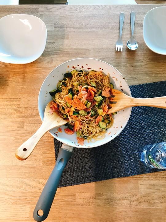 15 Minuten Lachs Spaghetti Von Gigi Chefkochde