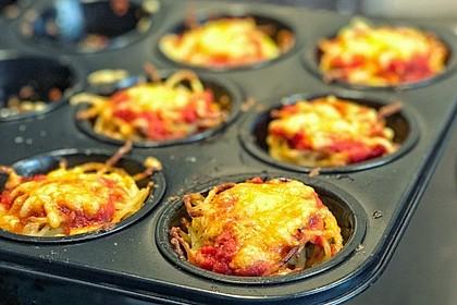 Spaghettinester in Muffinform (Bild)