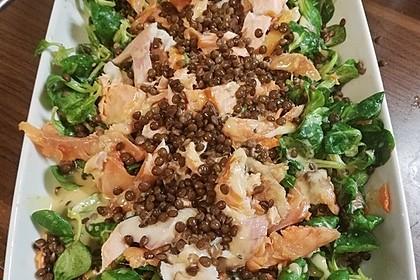 Linsensalat mit geräuchertem Fisch 3
