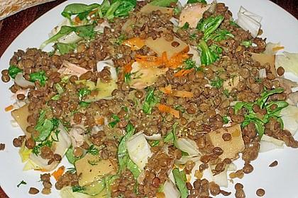 Linsensalat mit geräuchertem Fisch 13