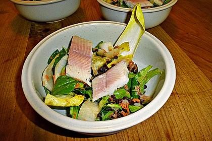 Linsensalat mit geräuchertem Fisch 10
