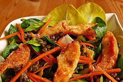 Linsensalat mit geräuchertem Fisch 6