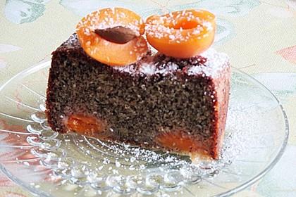Marillenkuchen mit Mohn 1