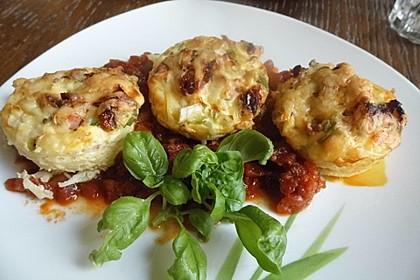 Spaghetti - Muffins mit Tomatensauce 5