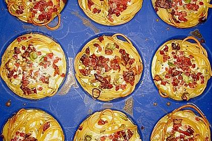 Spaghetti - Muffins mit Tomatensauce 1