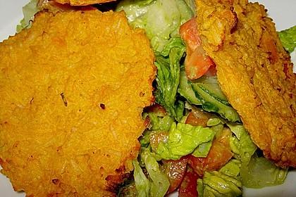 Reis - Kürbis - Puffer aus dem Ofen mit Salat
