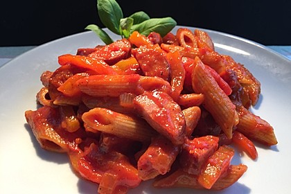 Nudelpfanne mit Paprika und Cabanossi 1