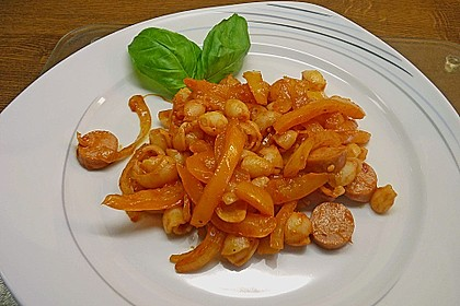 Nudelpfanne mit Paprika und Cabanossi 2