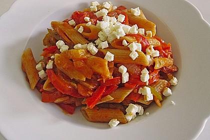 Nudelpfanne mit Paprika und Cabanossi 6