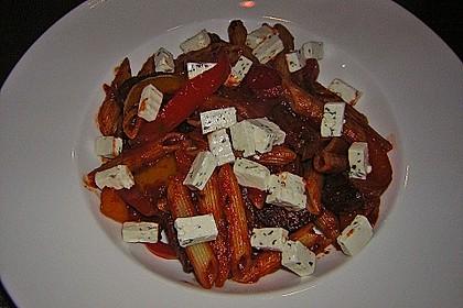 Nudelpfanne mit Paprika und Cabanossi 12