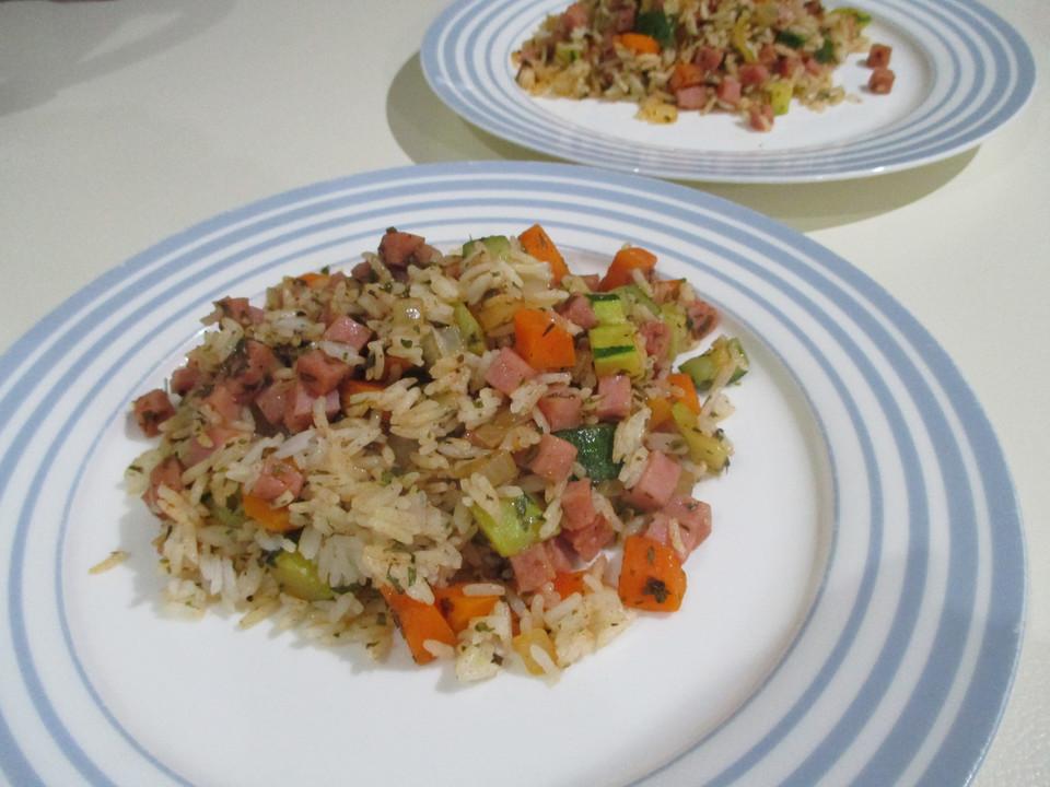 Leichte Schnelle Sommerküche : Schnelle zucchini reispfanne von schaf chefkoch