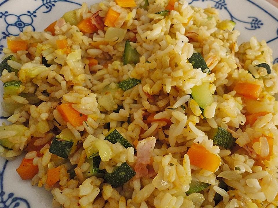 Schnelle Zucchini - Reispfanne von schaf76   Chefkoch