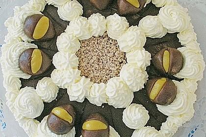 Kastaniencreme - Torte 1