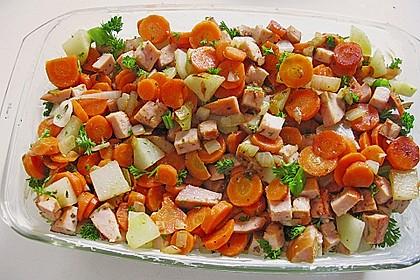 Kartoffel-Kohlrabi-Auflauf mit gekochtem Schinken 4