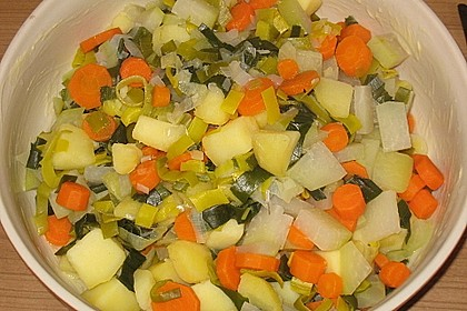 Kartoffel-Kohlrabi-Auflauf mit gekochtem Schinken 8