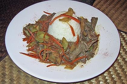 Chinesisches Rindfleisch mit Spargel 2