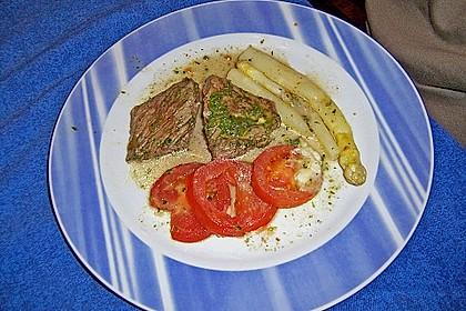 Gratiniertes Spargelsteak (Bild)
