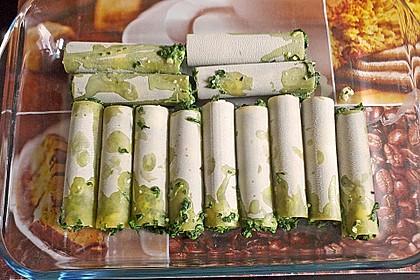 Cannelloni mit Spinat - Schafskäse - Füllung 1